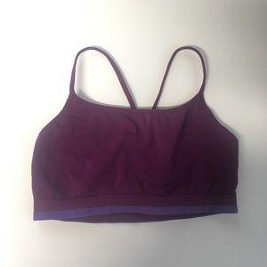 Gap body purple sports bra Women's size medium